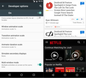Multi-window mode
