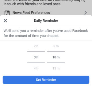 your time on facebook